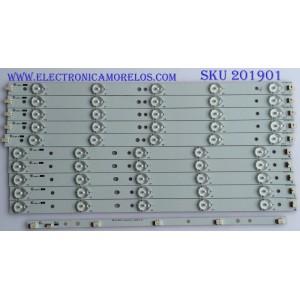 KIT DE LED'S PARA TV (10 PIEZAS) / VIZIO / 39.0-D510-L-C2 / 39.0-D510-R-C2 / EPILB67F7C705-F46 / PANEL TPT390J1 - HVN04 REV:S000E / MODELO E390-A1