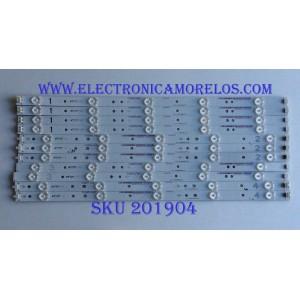 KIT DE LED'S PARA TV ((INCOMPLETO)) / SHARP / VZAA48D377 / 0981010221A9 / IC-C-VZAA48D377A / 0981010221AA / IC-D-VZAA48D377B / 0981010221AB / IC-C-VZAA48D377C / 0981010221AC / IC-D-VZAA48D370D / PANEL LSC480HN03-S01 / MODELO LC-48LE551U