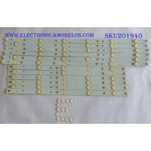 KIT DE LEDS PARA TV (12 PIEZAS) / SHARP / 500TT62 V3 / 500TT61 V3 / PANEL TPT500J1-HVN08 REV:S300B / MODELO LC-50LB261U