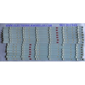 KIT DE LED´S PARA TV (14 PIEZAS ) / INSIGNIA / LB55037 V1_00 / PANEL TPT550U1-QVN03.U / MODELO NS-55DR710NA17