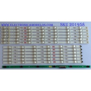 KIT DE LED´S PARA TV ( 12 PIEZAS ) / SAMSUNG / BN96-39657A  / BN96-39658A  / V6DU-500DCB-R2 / V6DU-500DCA-R2 / PANEL CY-GK050HGHV5H / MODELO UN50MU6070FXZA