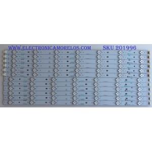 KIT DE LED'S PARA TV (12 PIEZAS) / RCA / F203911WCA / SN-AG-CU / PANEL LK520D3HB8412V / MODELO LED52B55R1200