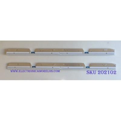 KIT DE LED'S PARA TV (2 PIEZAS) / SAMSUNG / 46026A  / BN61-15104X001AAHS / PANEL CY-SN082FLL V1H / MODELO UN82NU8000F / 90CM X 6CM /