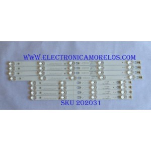 KIT DE LED'S PARA TV ( 8 PIEZAS ) / TCL / SJ-4C-LB4905-PF01J / 06NL-C8-6-SB.0490R06-13981-SL2001 / PANEL LVU485ND1L / MODELO 49S403