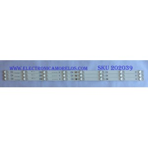 KID DE LED'S PARA TV ( 3 PIEZAS ) / TCL / 006-P1K3506B  / T0T_40D2900_3X8_3030C_D6T-2D1_4S1PX2  / LB4008 / PANEL T8-40D2900-LPN2, LVF400SS0T / MODELO 40S305TFAA