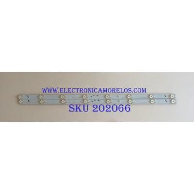 KID DE LED'S PARA TV ( 2 PIEZAS ) / PROSCAN / CRH-K323535T02085CS-REV1.7 W / PANEL CN32XB820, LSC320AN10-H01, CN32XB720, LSC320AN10-H02 / MODELO PLDED3280A-D A1608