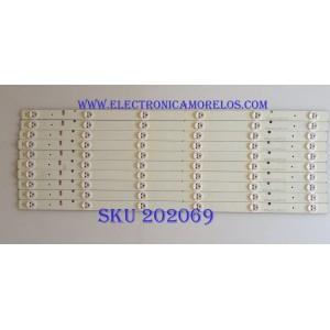 KIT DE LED'S PARA TV / INSIGNIA / HISENSE / SVH550AB1_6LED_REV0_131030  / 1134172 / PANEL HD550DF-B31(010)\S2\BBY\GM\ROH / MODELO L55K220 / NOTA IMPORTANTE : KIT CUENTA ORIGINALMENTE 11 PIEZAS ((INCOMPLETO 10 PIEZAS))