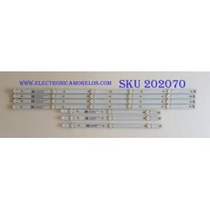 KIT DE LED'S PARA TV ( 7 PIEZAS ) / SHARP / LB50091 V1_00 / LB50091 V0_00 / 17253A 81010 / 210BZ05DLB33DBL00L / 4E697000005E / 210BZ03DRB33DBL00L / 4E697000007E / E465853 / PANEL TPT500J1-HVN07.U REV:S500AH / MODELO LC-50LB601U
