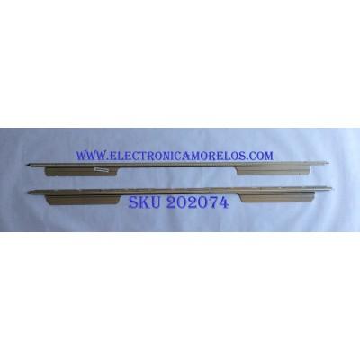KIT DE LED'S PARA TV (2 PIEZAS)  / SONY / SLS55_5630_SONY_240_1D_REV_100218 / LJ64-02437A / LJ64-02438A / D000510A0 / D000506A0 / PANEL LTY550HQ02 / MODELO KDL-55HX800 / 1.24M /