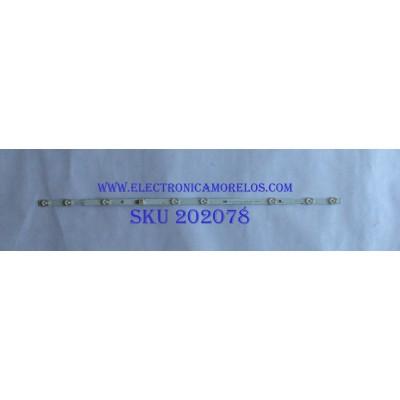 LED PARA TV ( 1 PIEZA )  / SANYO / UDULEDEVL003   REV.A / EVERLIGHT  LBM320M0801-IQ-4 / PANEL U6GF0XT / MODELO FW32D06F  B