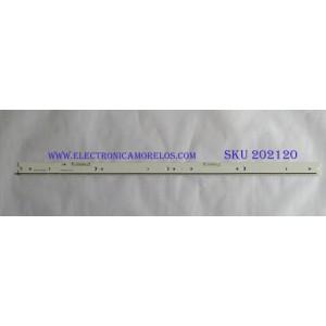 KIT DE LED´S PARA TV ( 1 PIEZAS ) / SAMSUNG / BN96-34774A/BN96-34775A / S_5N9_55_SFL_L88_V1.0_141113_LM41-00120E / PANEL CY-XJ055FLLV2H / MODELO UN55JS9000FXZA TS01 / NOTA IMPORTANTE : KIT CUENTA ORIGINALMENTE 2 PIEZAS ((INCOMPLETO 1 PIEZAS))