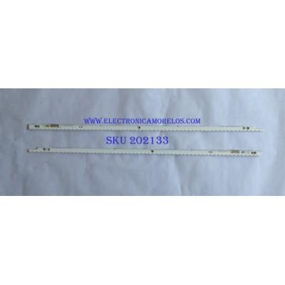 KIT DE LED'S PARA TV (2 PIEZAS) / SAMSUNG / SLED 2012SVS46 7032NNB LEFT60 PV 2D 111219 / M510B / MODELO UN46ES100F