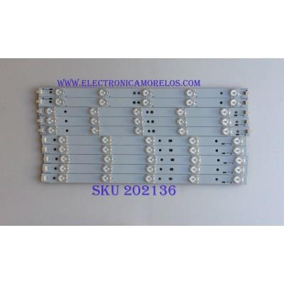 KIT DE LED'S PARA TV (10 PIEZZAS) / VIZIO / 39.0-D510-L-C2 / 39.0-D510-R-C2 / PANEL TPT390J1 HJ1L02 REV:SC1L / MODELO E390-A1