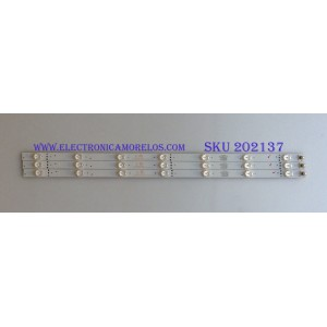 KIT DE LED´S ( 3 PIEZAS ) / ELEMENT / 303TH320046 / TFGJ32D07-ZC21FG-08 / PANEL T320-0CL-DLED / MODELO ELEFW328B