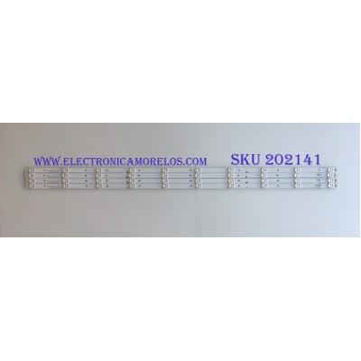 KIT DE LED´S PARA TV ( 4 PIEZAS ) / INSIGNIA / JL.D490A1330-003BS-M / 1172315 17B F5 C 30 B1 N170826 / PANEL JHD490N2F81 / MODELO NS-49D420NA18