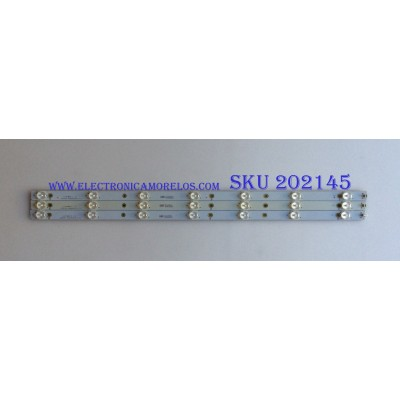 KIT DE LED'S PARA TV (3 PIEZAS) / SONY / LBM3200P0701-FC-2 / 007-0540811 / 70N8P40DAC8C / PANEL TPT315B5 -AN02 / MODELO KDL-32R330B