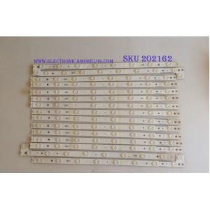 KIT DE LED'S PARA TV / VIZIO / LM41-00118C / SAMSUNG_2015TWI550_M55_3228_A08_REV1.2_150305 / PANEL LSC550FN04-C01 / MODELO M55-C2 / NOTA IMPORTANTE : KIT CUENTA ORIGINALMENTE 16  PIEZAS ((INCOMPLETO 15  PIEZAS))
