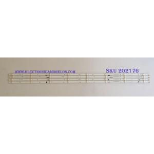 KIT DE LED'S PARA TV (4 PIEZAS) / VIZIO / IC-C-VZAA48D754A/B/C / IC-C-VZAA48D754A / IC-C-VZAA48D754B / IC-C-VZAA48D754C / 098101003157 / 098101003158 / 098101003159 / PANEL LSC480HN08-G07 / V500HK1-XRS5/ MODELOS D48N-E0 / D48-D0 LAUSTWET
