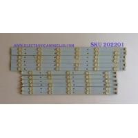 KIT DE LED'S PARA TV (12 PIEZAS) / YJHC.. / PANEL SM480SCA04 / MODELO AET48400FWD
