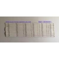 KIT DE LED'S PARA TV (10 PIEZAS) / SONY / LM41-00116K / 2015SONY65_FCOM_06_REV1.0_160212 / PANEL YD650CNG04B / MODELO XBR-65X750D
