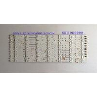 KIT DE LED'S PARA TV (12 PIEZAS) / SHARP / IC-A-VZAA55D584A / IC-A-VZAA55D584C / IC-A-VZAA55D584E / IC-A-VZAA55D584D / IC-A-VZAA55D584B / PANEL LSC550FN04-C01 / MODELO LC-55UB30U