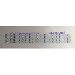 KID DE LED´S PARA TV ( 6 PIEZAS ) / VIZIO / LBM390P0901-X-4 / PANEL TPT390J1-HVN04 Rev S000S / MODELO E390I-B1E LTYWPSCQ