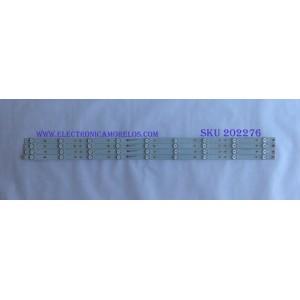 KIT DE LED´S PARA TV ( 4 PIEZAS ) / INSIGNIA / GJ-2K18-D2P5-390-D409-PITCH 90mm-V1 / 210BZ09D0BCC9DE00D / 18136  /  000S / EGHG4673F61X / PANEL TPT390J1-HVN05.U / MODELO NS-39DR510NA17