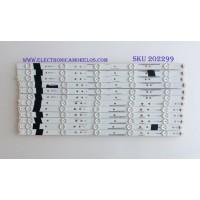 KIT DE LED'S PARA TV (12 PIEZAS) / JVC / VZAA48D377 / IC-C-VZAA48D377A / IC-D-VZAA48D377B / IC-C-VZAA48D377C / IC-D-VZAA48D377D / PANEL LSC480HN03-S01 / MODELO EM48FTR