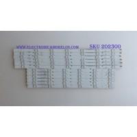 KIT DE LED´S PARA TV ( 12 PIEZAS ) / VIZIO / I-5000WS80131 / I-5000WS80131-L-V1 / 5000WS80131-R-V1 / I-5000WS80131-L-V2 /  I-5000WS80131-R-V2 / PANEL T500QVN03.0 / MODELO E5OU-D2