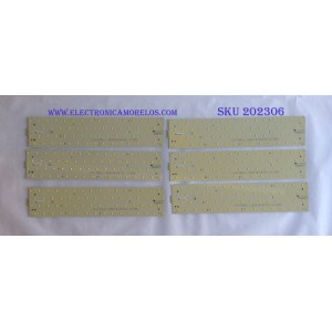 KIT DE LED'S PARA TV (10 PIEZAS) / (KIT COMPLETO) / VIZIO / 6916L-0138A / LC470WUL-SBM1 / LATHT470RALZE / (3PDAS10002A-R) / PANEL LC470WUL(SB)(M3) / MODELO SV472XVT