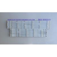 "KIT DE LED'S PARA TV (12 PIEZAS) / LB55061 V0 / LB-C550F14-E4-S-G1-DL3 / KHP200639A / 55D3000/D2000 / PANEL C550F14-E6-H / MODELO 55"""