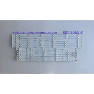 KIT DE LED'S PARA TV (12 PIEZAS) / LB55061 V0 / LB-C550F14-E4-S-G1-DL3 / KHP200639A / 55D3000/D2000 / PANEL C550F14-E6-H / MODELO LE55A6R9A