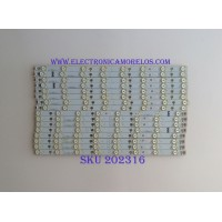 KIT DE LED´S PARA TV ( 16 PIEZAS ) / VIZIO / LBM500P0204 / LBM500P0204-BL-2(L) / LBM500P0204-AH-3(L) / LBM500P0204-BM-2(R) / LBM500P0204-AI-3(R) / PANEL TPT500DK1-QS1 / MODELO P502UI