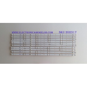 KIT DE LED'S PARA TV (10 PIEZAS) / SONY / LM41-00543A / L3_BCH_L_E5_FAP_S6_1_R1.0 / A5J015 / PANEL YM8F550CN001 / MODELO KD-55X750F