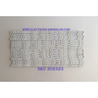 "KIT DE LED´S PARA TV ( 16 PIEZAS ) / VIZIO / M55-E0-A-V4 / M55-E0-B-V4 / M55-E0-C-V4 / M55-E0-D-V4 / EB-B01-3-S5 / ELA-2B32-2-7 / MODELO 55"""