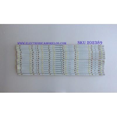 KIT DE LED´S PARA TV ( 15 PIEZAS ) / VIZIO / T650QVF 04.0 / ZE65T330013 / ZE65T330023 / E88441 / PANEL T650QVF06.0 / MODELO M65-C1 / NOTA IMPORTANTE : KIT CUENTA ORIGINALMENTE 16 PIEZAS ((INCOMPLETO 15 PIEZAS))