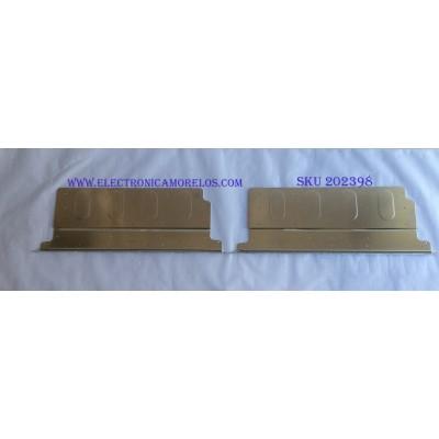 KIT DE LED'S PARA TV (2 PIEZAS) / TOSHIBA / V580H1-LS6-TLEM3 / E117098 / PANEL V580HK1-LS6 REV. C2 / MODELO 58L7300U
