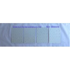 KIT DE LED'S PARA TV (10 PIEZAS) ( KIT COMPLETO ) / SAMSUNG / BN96-35917A / BN96-35918A / BN96-35919A / 35917A / 35918A / 35919A / PANEL CY-YJ065FLLV1H / MODELOS  UN65JS9500FXZA / UE65JS9505QXXE / UE65JS9502TXXH / (MAS MODELOS EN DISCRIPCIÓN)