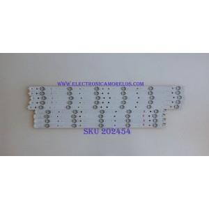 KIT DE LED´S PARA TV ( 9 PIEZAS ) / SONY / SVG600A13_REV06_L-TYPE_140513 / SVG600A13_REV06_R-TYPE_140513 / PANEL S600FHB-1 / MODELO KDL-65R510A / NOTA IMPORTANTE : KIT CUENTA ORIGINALMENTE 10 PIEZAS ((INCOMPLETO 9 PIEZAS))