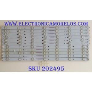 KIT DE LED'S PARA TV NOTA IMPORTANTE : KIT CUENTA ORIGINALMENTE 12 PIEZAS (INCOMPLETO 11 PIEZA) / VIZIO 56.38005.030 / 131210-WS-550-014-LAKERS-C8-R / 131210-WS-550-014-LAKERS-C8-L / PANEL T550HVN03.2 / MODELO E550I-B2 LWZ2PPAQ