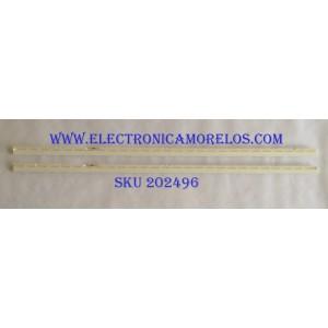 KIT DE LED'S PARA TV (2 PIEZAS) / SAMSUNG BN96-44814A / SEC_65_2X54_3030C_D6T-2D1_27S2P REV.V1 / E213009 / PANEL CY-NM065HGXV1H / MODELO UN65MU6290VXZA GA01