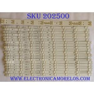 KIT DE LED`S PARA TV (20 PIEZAS) / LG EAJ64449 / 55SK85(40B) / SSC_55SK85(40B)_CASE2_R00_170915 / SSC_SlimDRT_55SK85(40B) _S / PANEL HC550DQB-SLUA5-214X / MODELO 55SM9000PUA / 55SM9000PUA.BUSYLJR