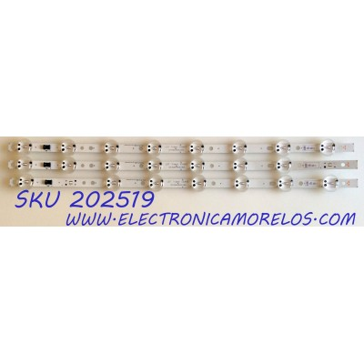 KIT DE LED`S PARA TV (3 PIEZAS) / LG 3PCM00796A / EAV63992902 / EAV 6399 2902 / LGIT.Trident.55UK63 / LGIT.55UK63.REV00.170615 / AGRC1A61B / LG Innotek 55inch Trident 55UK63 / 180628 / PANEL NC550DGG-AAGX1 /  MODELO 55UK6090PUA / 55UK6090PUA.BUSWLOR