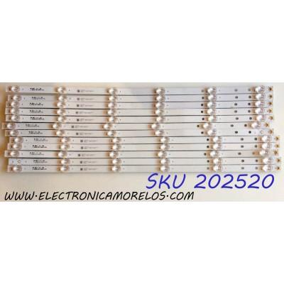 KIT DE LED`S PARA TV (12 PIEZAS) / VIZIO D65061330 / JL.D65061330-324AS-M / 244761000359000 / JL.D65061330-324AS-M_V02 / 70401-00505 / 70401-00505 / 17AC530 / D181016 / PANEL BOEI650WQ1 / MODELOS D65X-G4 LHBFXVAU / D65X-G4 LHBFXVBU / D65X-G4 LHBFXVCU