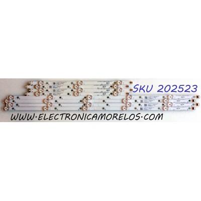 KIT DE LED`S PARA TV (8 PIEZAS) / INSIGNIA 210BZ05DLB33LBL02X / 210BZ03DRB33LBL02X / 20190311 / 20190223 / 29S8T34ICF8N / 19131 / 50AAE2-L / 50AAE2-R / GJBBY504X8ABL2-L-T / GJBBY504X8ABL2-R-T / E257384 / LB-PM3030 / PANEL / MODELO NS-50DF710NA19