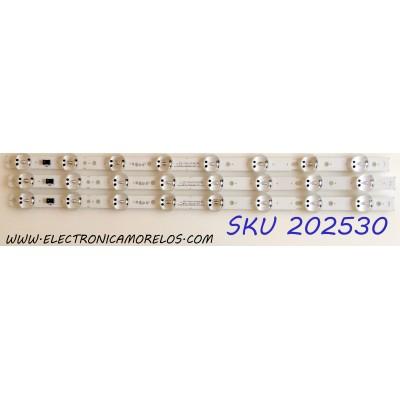 KIT DE LED`S PARA TV (3 PIEZAS) / LG EAV64013701 / SSC_TRIDENT_55UK63_S / SSC_TRIDENT_55UK63 / SSC_55UK63 / SVL550AS48AT5 / 171201 / PANEL`S NC550DGG-ABGX1 / NC550DGG-ABGX3 / MODELOS 55UK6300PUE / 55UK6090PUA / 55UK6300PUE.BUSTLOR / 55UK6090PUA.BUSTLOR