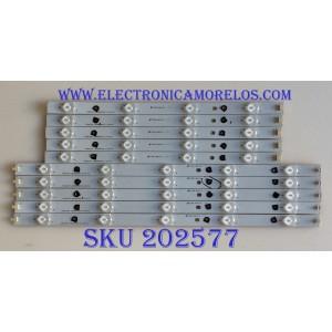 KIT DE LED'S PARA TV SHARP / (10 PIEZAS) / LBM390P0401 / LBM390P0501 / ADQA 4 14 0403 70 N8 D AU0 / PANEL TPT390J1-HVN01 / MODELO LC-39LE351U
