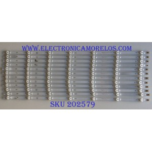 KIT DE LED'S  PARA TV ATYME (12 PIEZAS) / SQY55_DLED_7X12_MCPCB / AE0110457 / PANEL HV550QUB-N4D / HV550QUB-N5A / MODELO 550AM7UD / RTU5540-B