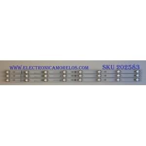 KIT DE LED´S PARA TV TCL (3 PIEZAS) / 006-P1K3541A / TOT_40D2900_3X8_3030C_D6T-2D1_4S1PX2   REV.V5 / 4C-LB4008-YH / PANEL LVF395ND1L / MODELO 40S305LBCA