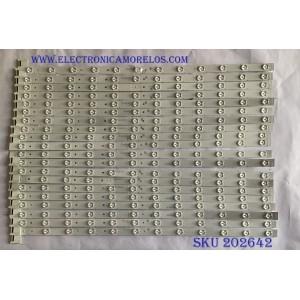 KIT DE LED´S PARA TV TCL (20 PIEZAS) / TCL_GIC_65V6_HDR / 4C-LB6512 / TCL_GIC_65V6_HDR_R_12EA_3030_LX20171214_VER.7 / TCL_GIC_65V6_HDR_L_12EA_3030_LX20171214_VER.7 / PANEL LSC650FN04-K01 / LVU650NDBL / MODELO 65R617